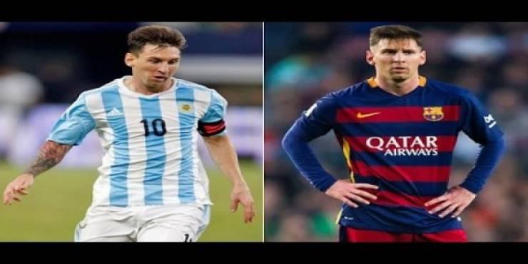 فيديو: مقارنة بين ميسي الأرجنتين وميسي برشلونة !