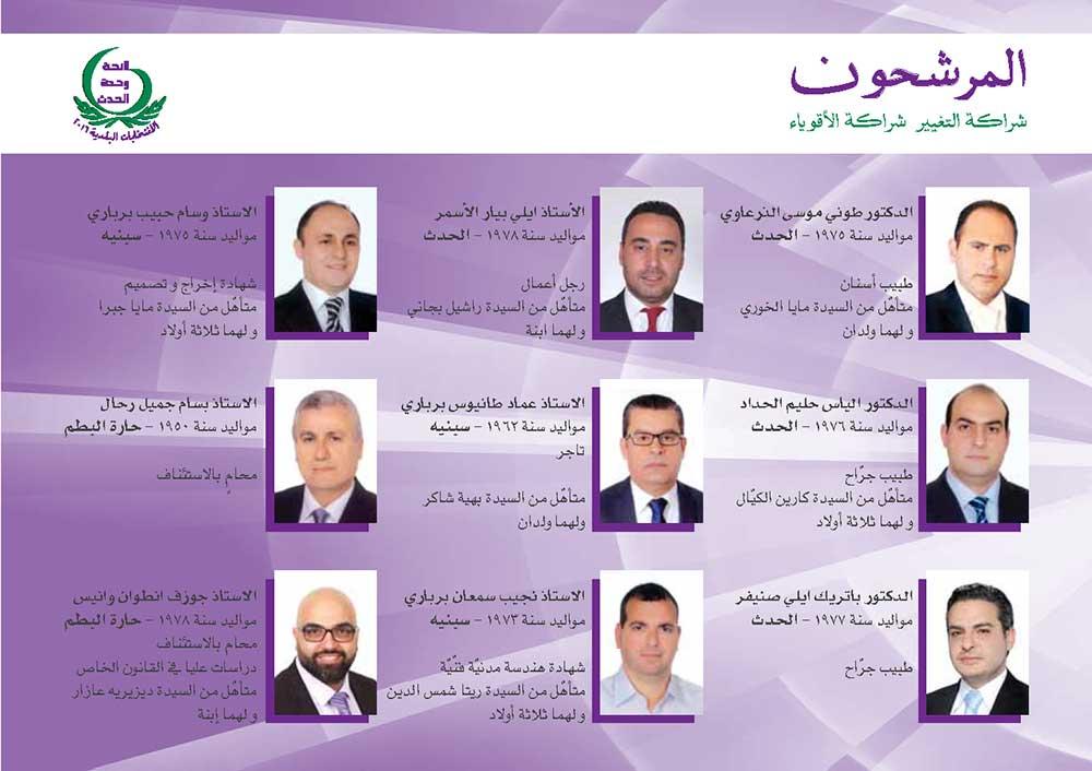 المرشّحون للانتخابات البلديّة-2